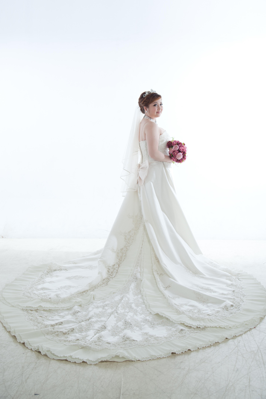 WHITE wedding dress手工婚紗試穿(正式版) @ 梅力紗在北 …_插圖